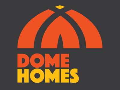 Dome Homes Ver 3 simple thick type logo type retro home tent
