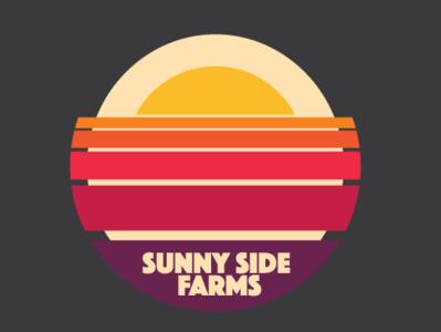 Sunny Side Farms retro badge farm eggs golden ratio 1980s 1980 logo vintage retro