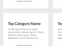 Knowledgebase categories