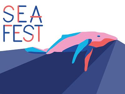 Seafest   Event Branding identity merchandise design poster design art direction branding vector art event campaign web design illustration