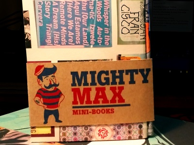 Mighty Max Mini-Books packaging sketchbooks screen-printing hand-made product design