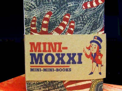 Mini Moxxi Web packaging sketchbooks screen-printing hand-made product design