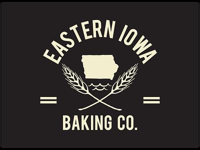 Eastern IA Baking Co. Logo branding bakery logo wheat mississippi water food