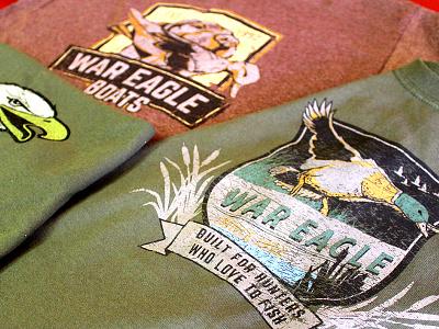War Eagle Boats Apparel retail apparel duck hunting clothing t-shirts screenprinting illustration apparel