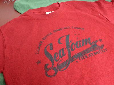 Seafoam Apparel design motor graphic design screen printing apparel seafoam
