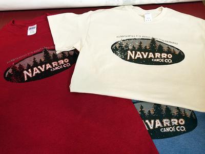 Navarro Canoes screen print t-shirt apparel outdoors canoes ilustration vintage