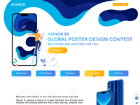 Honor 8x global poster design contest homepage 1x