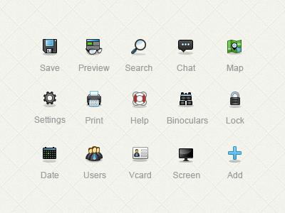 Piranha iconset icons