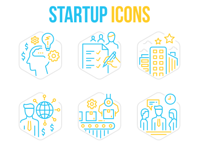 Startup Business Icons