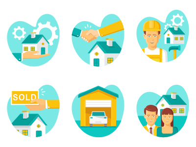 Property   Real Estate Flat Icons