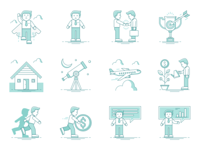 Business Life Icons