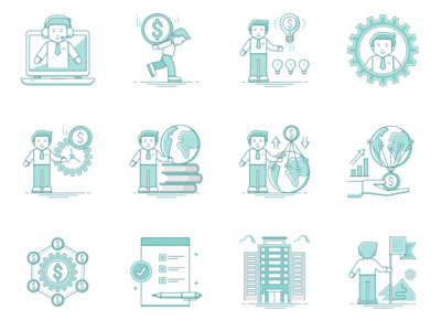 Business Life Icons 2
