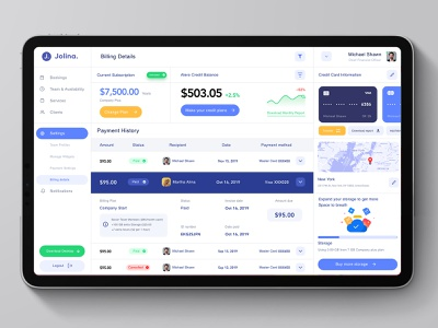 Finance Management Dashboard Design website application minimal trend business client payment billing app design dashboard management finance ux ui