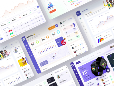 Dashboard Collection c4d 3d motion animation illustration sketch adobe xd app web website web dashboard dashboard app 2021 trend ux ui dashboard