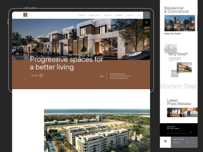 Retal Real Estate Website saudi arabia agency parallex real estate responsive creative trend landing page design web user interface minimal app ux ui