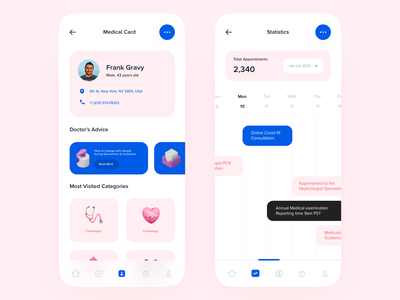 Doctor appointment application user interface user c4d apple ios consultancy online hospital application health appointment medical doctor minimal app ux 3d ui