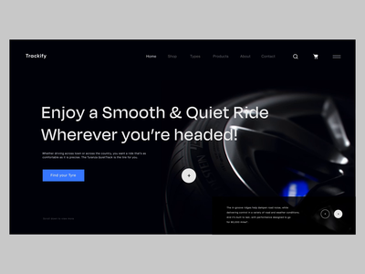 Trackify Landing page design creative website uxdesign automobile cars wheels tyre after effect animation motion web design website landing page user interface app ux ui