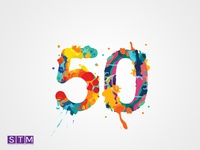 STM(50 years logo)
