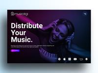 Musicdigi (landing page)