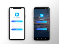 Login Screen (KS hosting TV app)