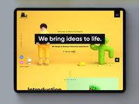 Digital Design Agency Landing page design