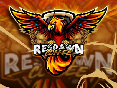 RESPAWN PHOENIX esport sport logo artwork vector gaming logo illustration esportlogo