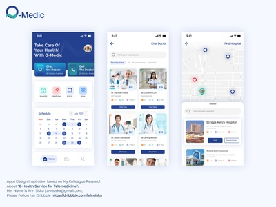 O-Medic Health Services ios mobile apps telemedicine health doctor doctor app inspiration ux userinterface ui design
