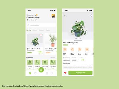 HelloPlant Apps plantshop plantapp ios userinterface ux uiux ui inspiration apps plant