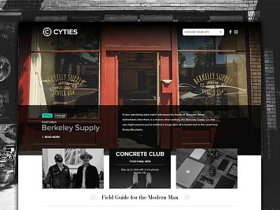 Cyties | Homepage website web design homepage