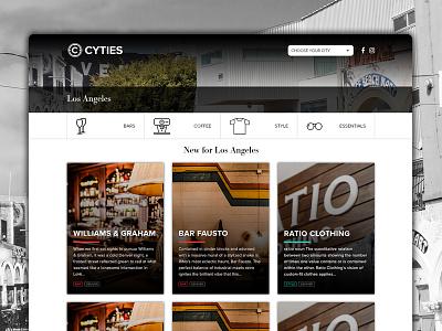Cyties | Internal city page website subpage web design internal page