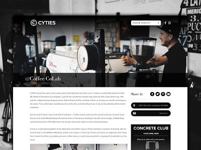 Cyties | Location page website location web design location page