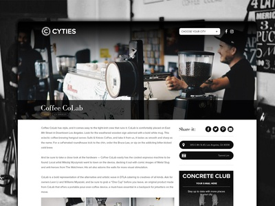 Cyties   Location page website location web design location page
