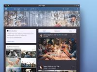 Social Network Design ui flat network social web design minimal page clean graphic design design illustrator photoshop