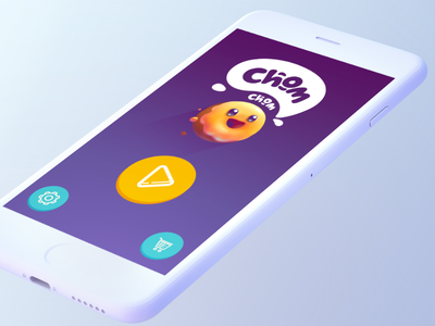 Chom Chom Game   Suicide donuts flat sketch art ios menu interface game concept donut character background