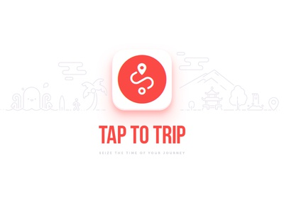 TAP TO TRIP | App Icon travel ios app world kraken trip graphic design illustration symbol logo icon