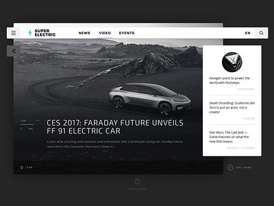 Super Electric    Concept white interface concept button black web design clean minimal flat ux ui
