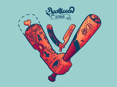Venom | Style V - Type barber razor print evil art ink tatoo hand logo lettering drawing illustration