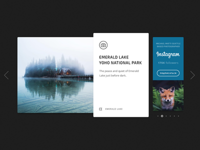 Photo Cards card nature minimal interface clean blue web flat icon typography ui design