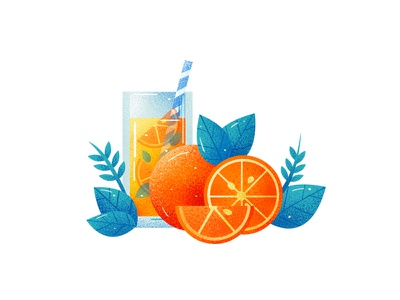 Orange Orange juice orange color flat illustration
