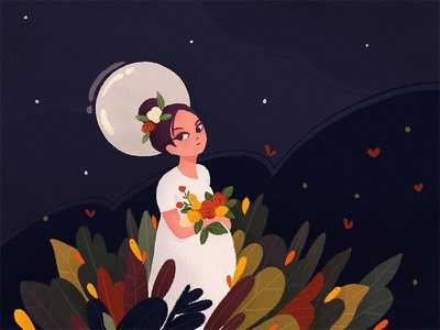 Maa mother design art happy love color character flat illustration