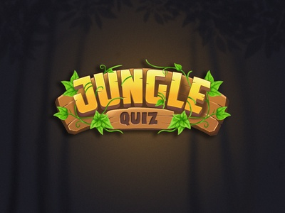 Jungle Quiz game drawing ui illustration