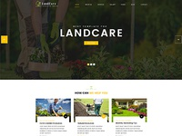 LandCare - landscaping, & gardening PSD Template