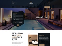 Grand - Hotel & Restaurant PSD Template