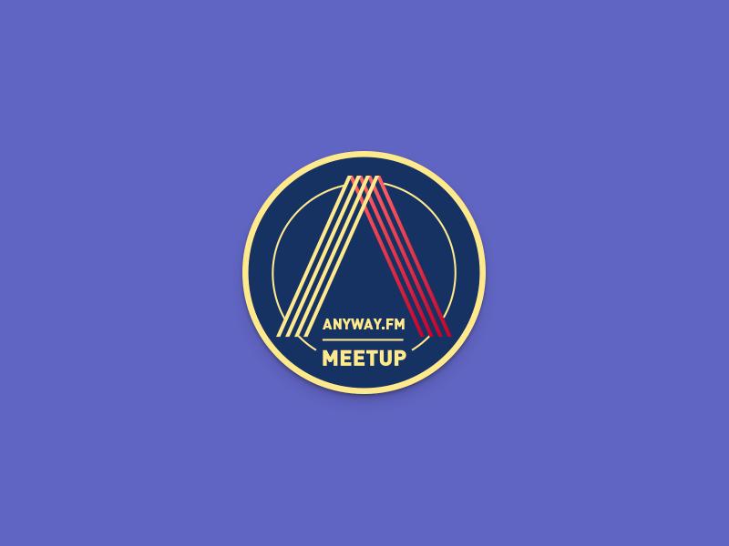 Anyway.FM Meetup logo anyway.fm meetup badge