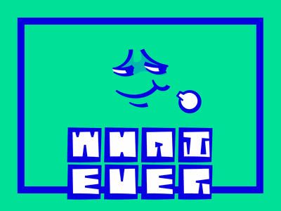 Whatever.FM Cover design #1 logo illustation podcast cover anyway.fm whaterver