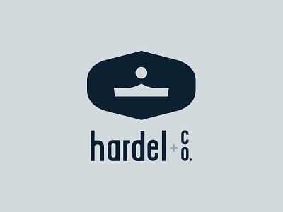 Hardel Co logo option 1 crown bridge branding icon logo