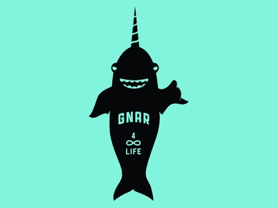 The Gnarwhal surf shaka narwhal icon logo
