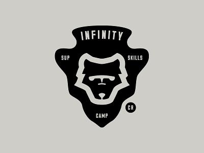 Infinity SUP Camp surf icon wolf arrowhead logo