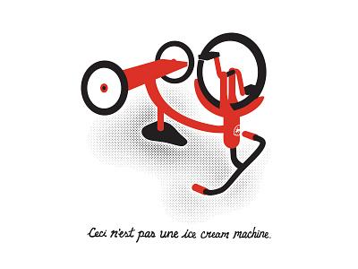 Ice Cream Machine tricycle bike poster