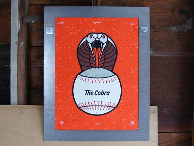 The Cobra texture snake cobra reds baseball